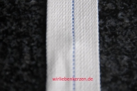 Lampendocht aus 100% Baumwolle 35 mm Breite hart