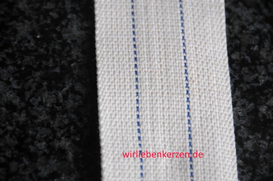 Lampendocht aus 100% Baumwolle 50 mm Breite hart