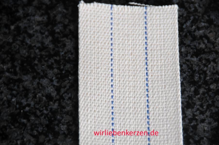 Lampendocht aus 100% Baumwolle 55 mm Breite hart