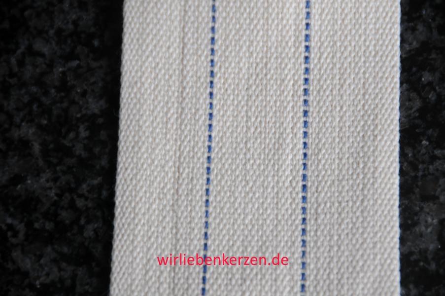 Lampendocht aus 100% Baumwolle 70 mm Breite hart