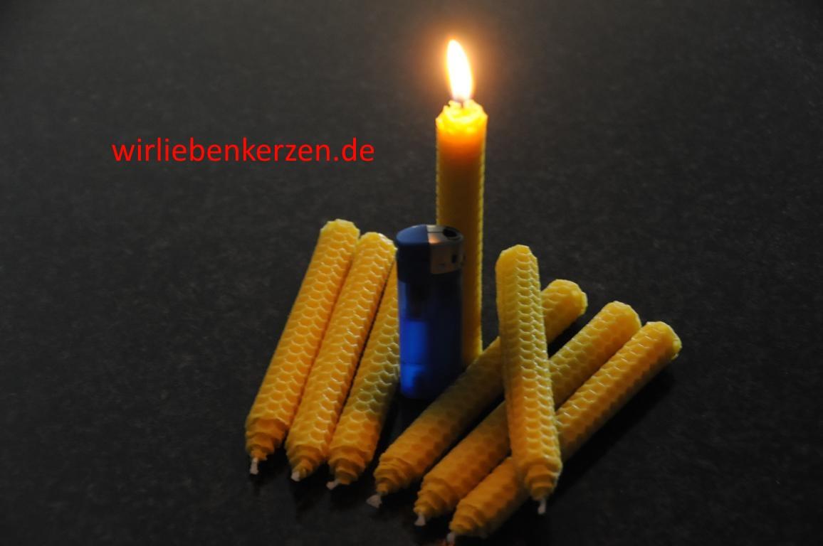 Kerzen Zwerge 100% Bienenwachs (Stückpreis)