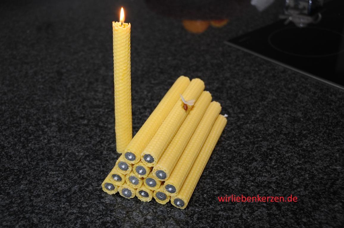 Tafel-Leuchter Kerzen 100% Bienenwachs Stückpreis