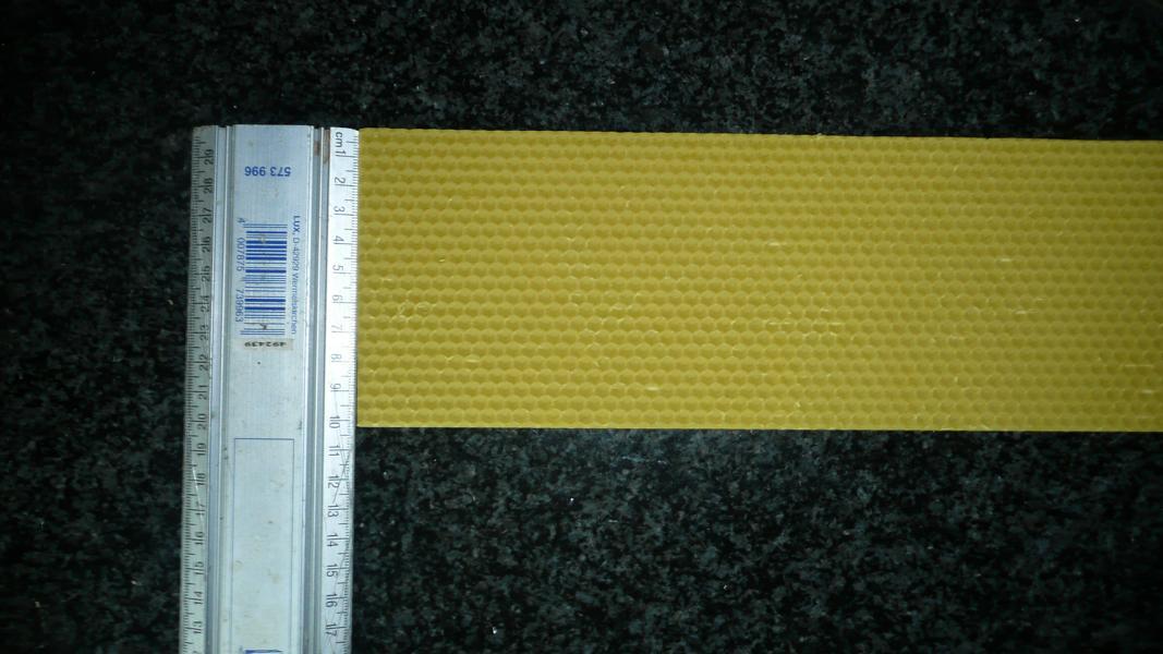 Bienenwachsplatten zum Basteln 300 mm x 100 mm (Stückpreis)