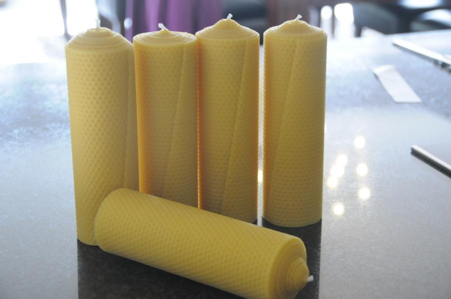 Stumpenkerzen 210 x 65 mm 100% Bienenwachs Stückpreis