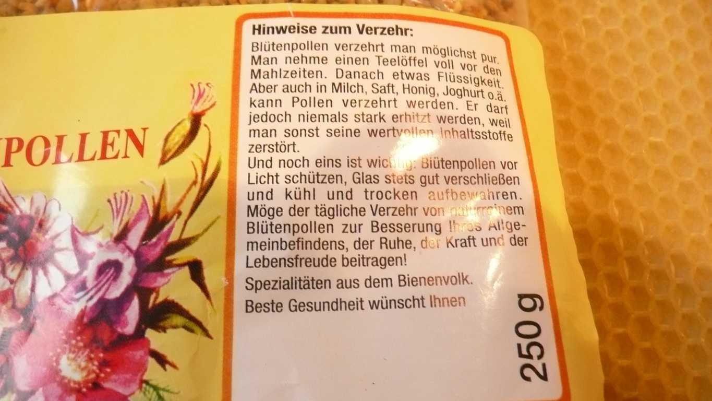 Reinste Blütenpollen aus dem Baltikum