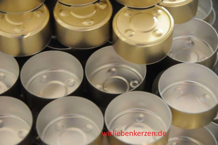 Goldfarbene Teelichthüllen