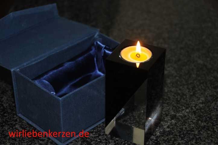 3 Design Teelichtgläser Kristall in verschiedenen Größen