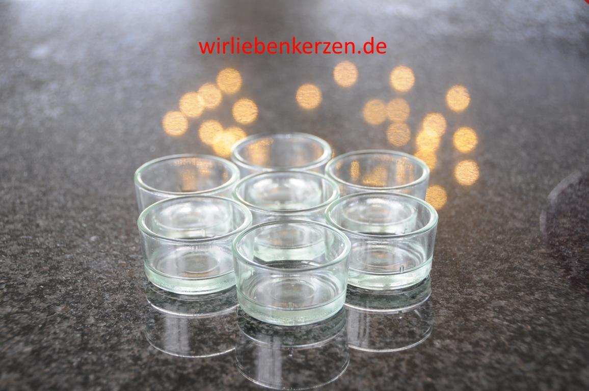 Teelichtglas einfach für Standardteelichter