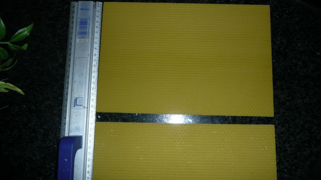 Bienenwachsplatten zum Basteln 300 mm x 200 mm (Stückpreis)