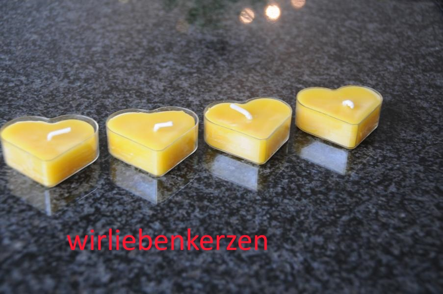 Teelicht Herz in transparenter Kunststoffhülle