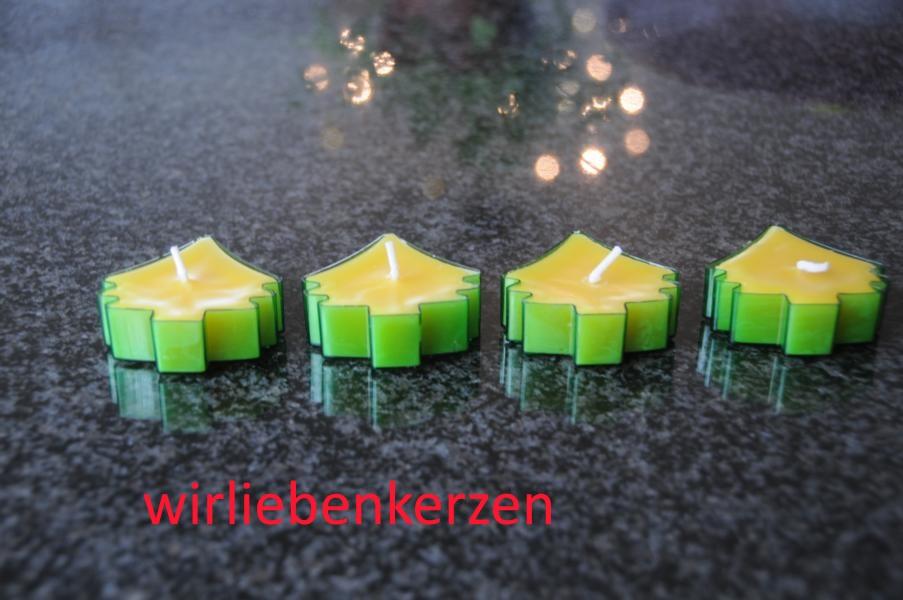 Teelicht Baum in transparenter Kunststoffhülle Grün