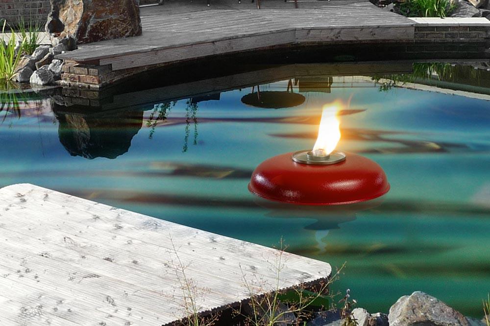 Rote Teich ( Pool ) Fackel Schmelzlicht, Fackel ca. 1030 kg