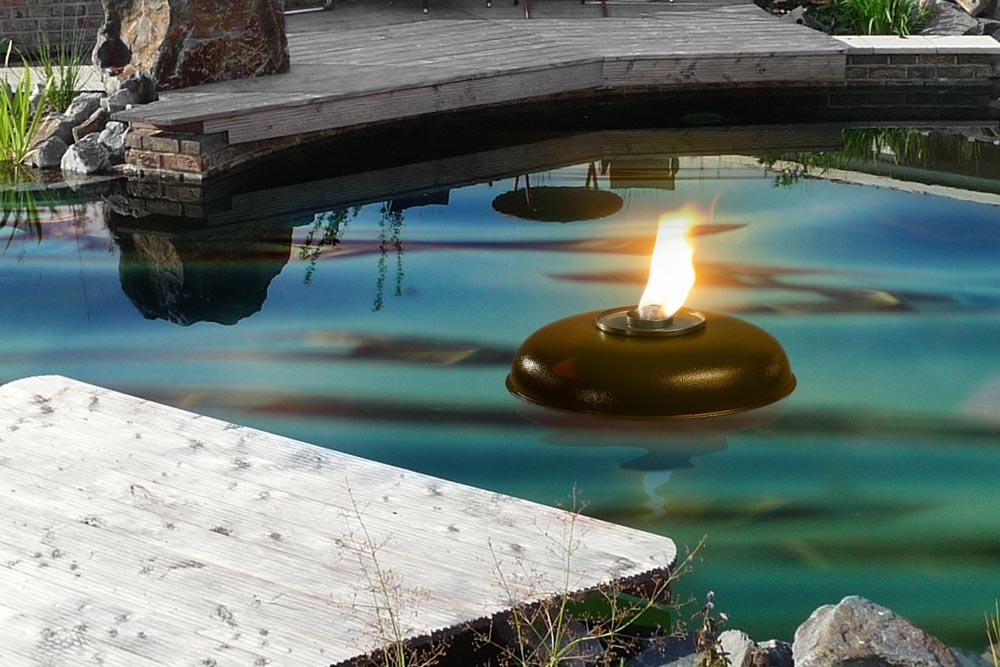 Bronzefarbene Teich ( Pool ) Fackel Schmelzlicht, Fackel ca. 1030 kg