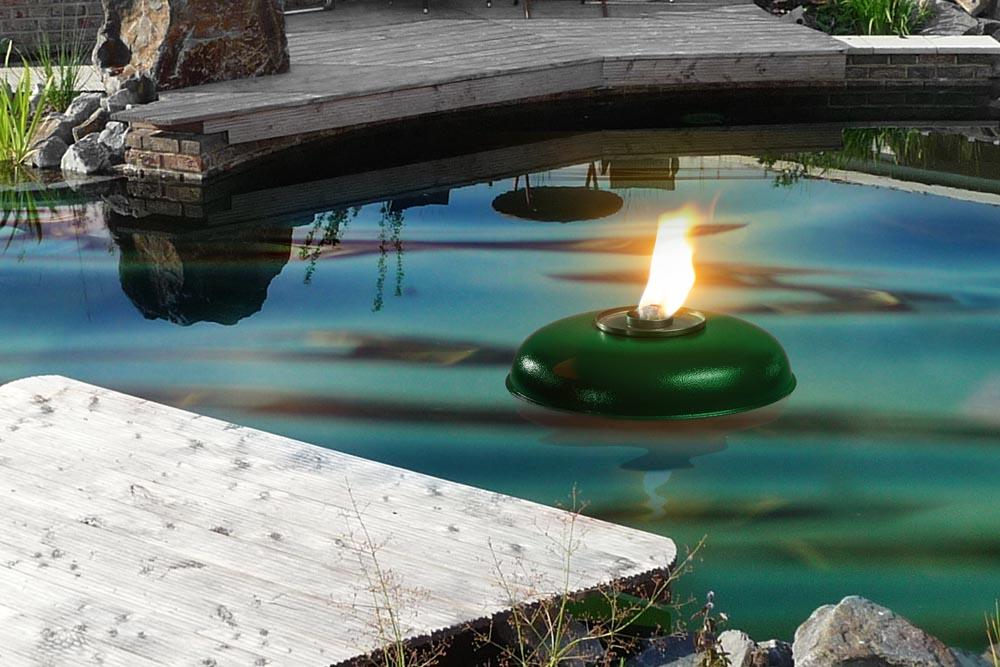 Grüne Teich ( Pool ) Fackel Schmelzlicht, Fackel ca. 1030 kg