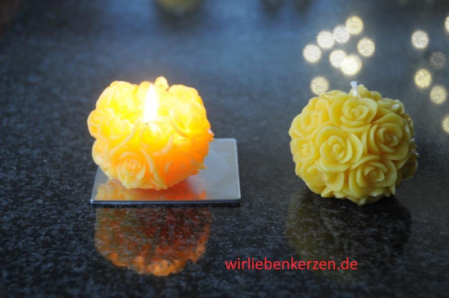 Designkerze Blumenkugel ( Stückpreis )