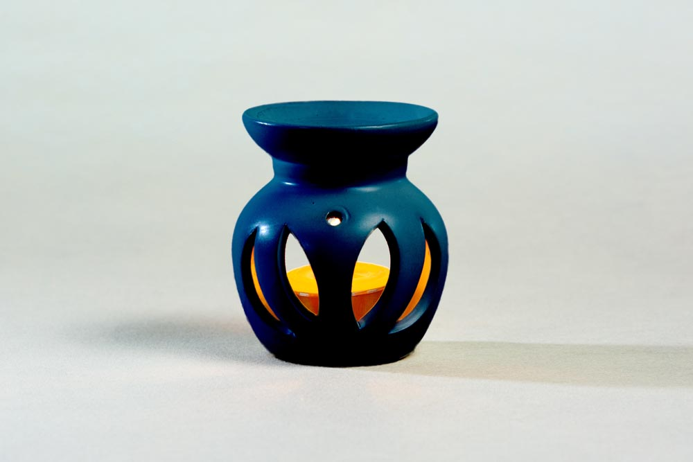 Blaues Duftlämpchen für Duftöl