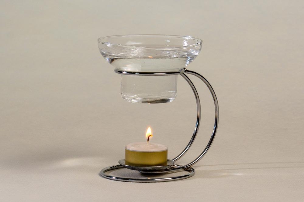 Glas Duftlämpchen mit Metallhalter für Duftöl