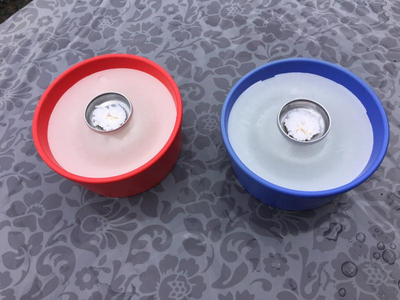 Blaues Schmelzlicht ca. 1,7 kg