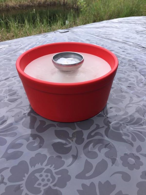 Rotes Schmelzlicht ca. 1,7 kg