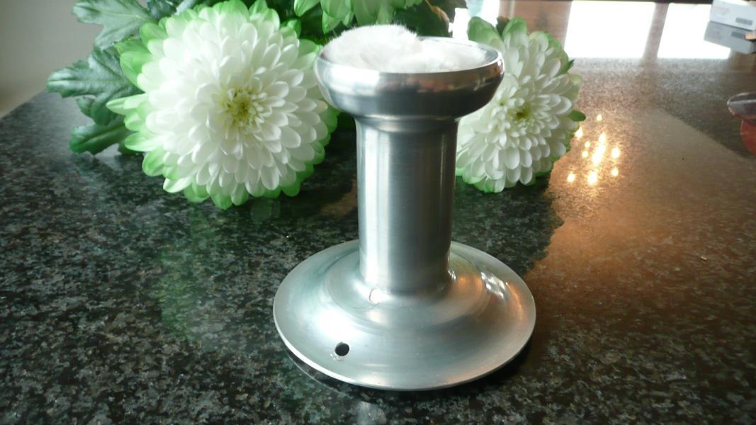 Riesiges Schmelzlicht Farbe Eis Grau ca. 3,9 kg / 2 kg Wachs