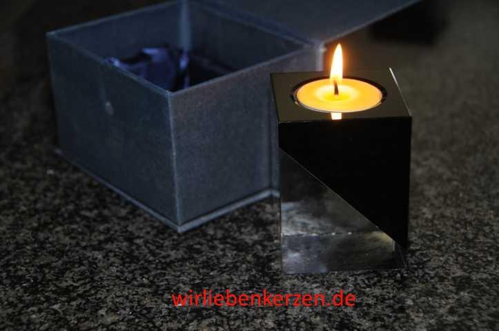 Design Teelichtglas Kristall