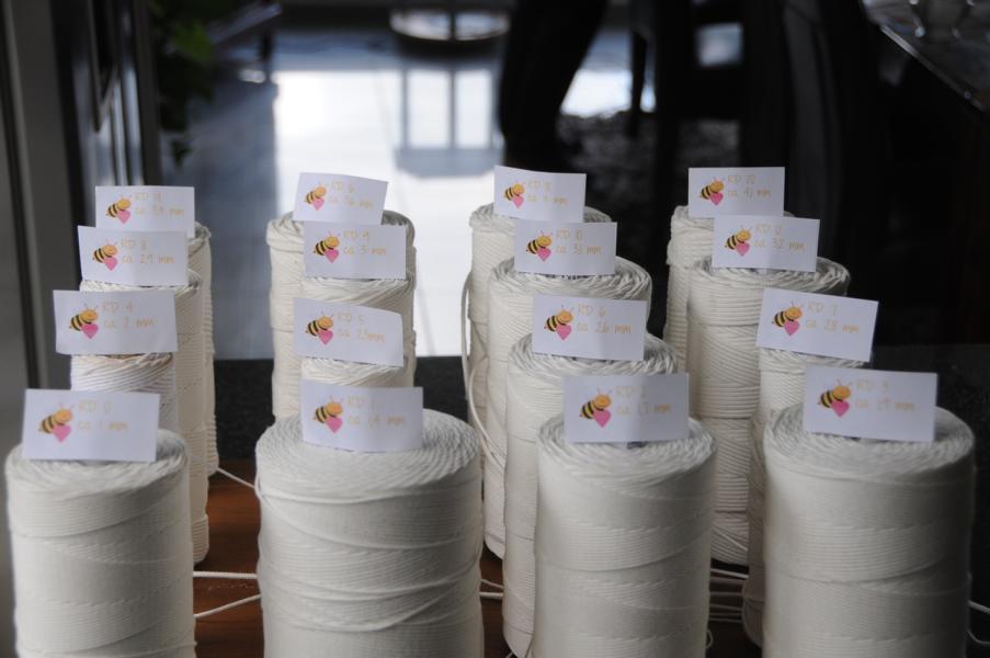 Runddocht RD 0, RD 1, RD 2 und RD 3 für Bienenwachskerzen, Parafin- und Stearinkerzen