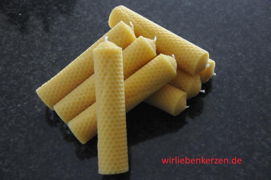 Stumpenkerzen 100% Bienenwachs 140 x 32 mm (Stückpreis)