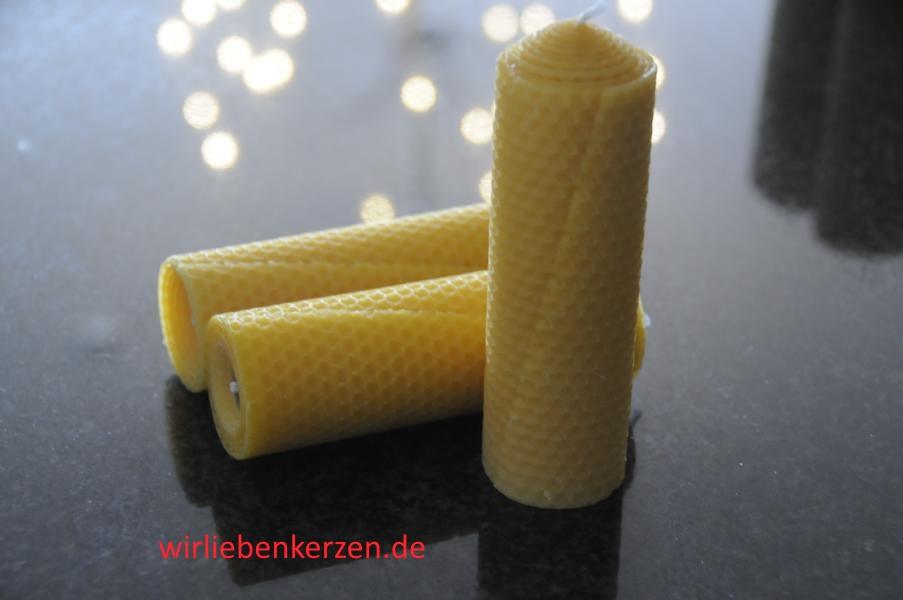 Stumpenkerzen 100% Bienenwachs 145 x 46 mm (Stückpreis)