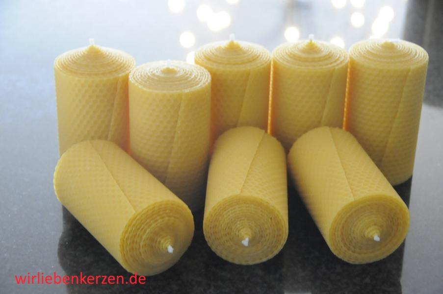 Stumpenkerzen 125 x 65 mm 100% Bienenwachs Stückpreis