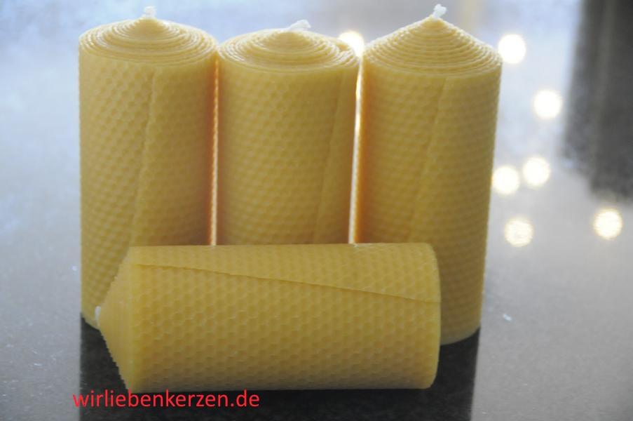 Stumpenkerzen 150 x 65 mm 100% Bienenwachs Stückpreis