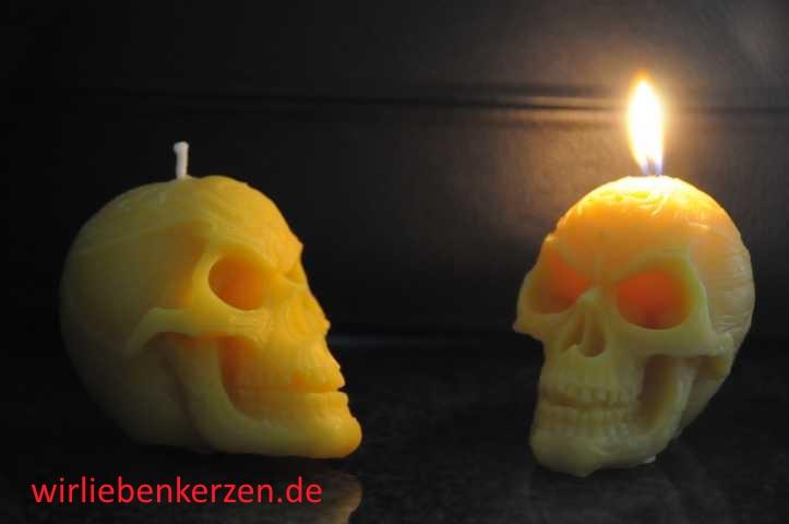 Designkerze Totenkopf