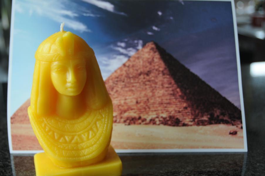 Designkerze Kleopatra 100% Bienenwachs