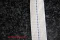 Lampendocht aus 100% Baumwolle 25 mm Breite hart