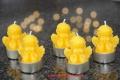 5 Teelichte Engel 100% Bienenwachs handgegossen
