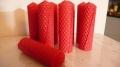 Rote Kerzen 100% Bienenwachs 110 x 34 mm (Stückpreis)