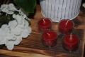 Rote Teelichter in Teelichtgläsern 100% Bienenwachs Stückpreis