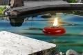 Rote Teich ( Pool ) Fackel Schmelzlicht, Fackel ca. 1,030 kg