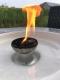 Großes cremefarbenes Schmelzlicht Retro ca. 3,4 kg