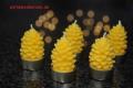5 Teelichte Bäumchen 100% Bienenwachs handgegossen